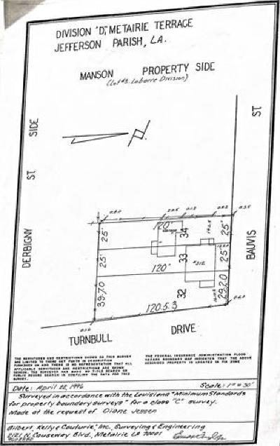 Metairie Residential Lots & Land For Sale: 312 N Turnbull Drive