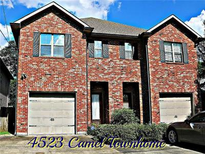 Metairie Townhouse For Sale: 4523 Camel Street
