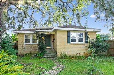 New Orleans Single Family Home For Sale: 4815 Walmsley Avenue
