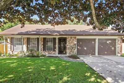 Gretna Single Family Home For Sale: 536 Brookmeade Drive