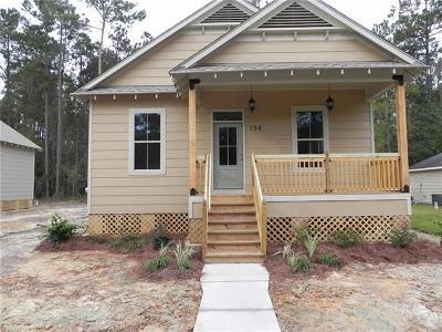 Slidell Single Family Home For Sale: 136 Sunset Drive