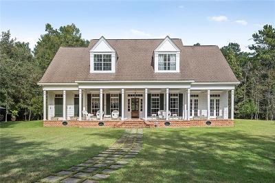 Slidell Single Family Home For Sale: 61518 1091 Highway