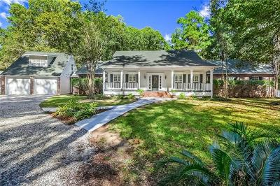 Mandeville LA Single Family Home For Sale: $648,950