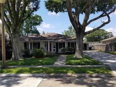 Metairie Single Family Home For Sale: 3712 Cleveland Place