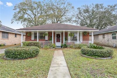 Kenner Single Family Home For Sale: 1604 Taylor Street