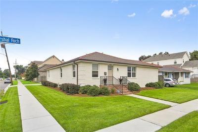 New Orleans Single Family Home For Sale: 7100 Marshal Foch Street