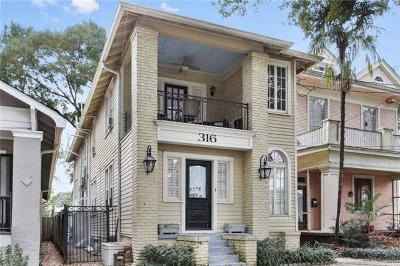 New Orleans Multi Family Home For Sale: 316 Broadway Street
