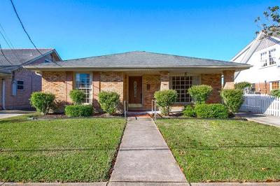 Metairie Single Family Home For Sale: 1338 Ocean Drive