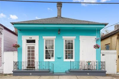 Single Family Home For Sale: 708 Mandeville Street