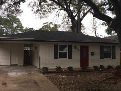 River Ridge, Harahan Single Family Home For Sale: 65 Oakland Street