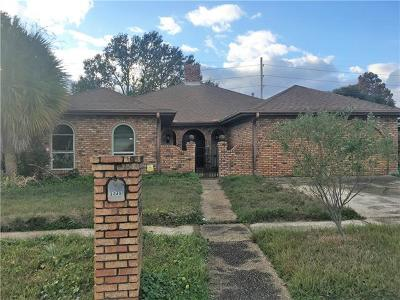 Kenner Single Family Home For Sale: 3349 Cannes Place