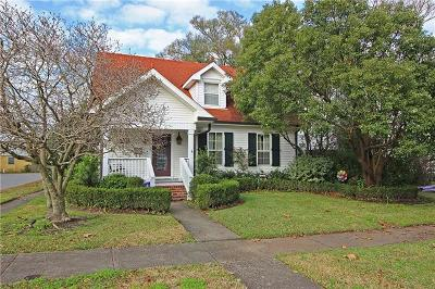 Single Family Home For Sale: 600 Metairie Lawn Drive