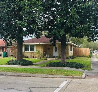 Kenner Single Family Home For Sale: 1435 Roosevelt Boulevard