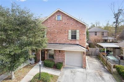 Mandeville Townhouse For Sale: 835 Montgomery Street