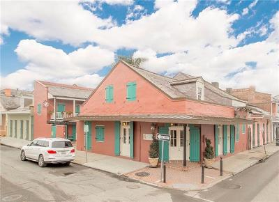 French Quarter Single Family Home For Sale: 721 Burgundy Street