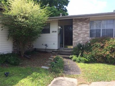 Single Family Home For Sale: 2508 Aleatha Street