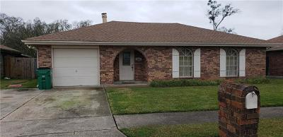 Marrero Single Family Home For Sale: 2504 West Pearl Drive