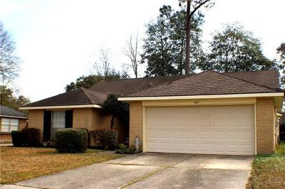 Slidell Single Family Home For Sale: 425 Candlewood Drive