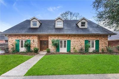River Ridge, Harahan Single Family Home For Sale: 7212 O'neil Drive