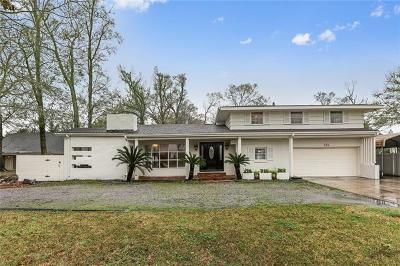 River Ridge, Harahan Single Family Home For Sale: 334 Citrus Road