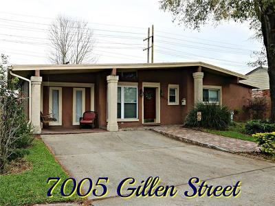 Metairie Single Family Home For Sale: 7005 Gillen Street