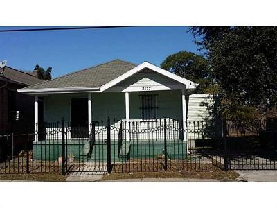New Orleans Single Family Home For Sale: 2477 N Miro Street