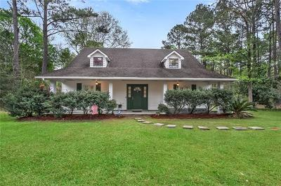 Slidell Single Family Home For Sale: 162 Bayou Paquet Street
