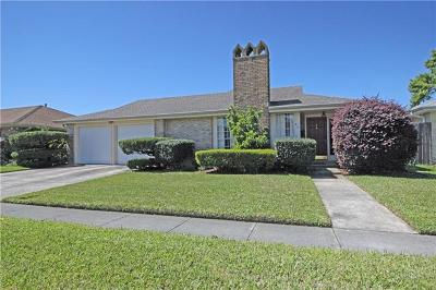 Kenner Single Family Home For Sale: 43 Montego Drive