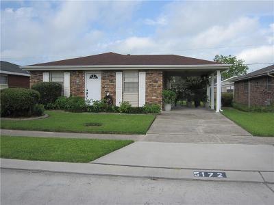 Marrero Single Family Home For Sale: 5172 Mount Rushmore Drive