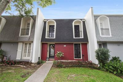 Metairie Townhouse For Sale: 845 Wilshire Boulevard