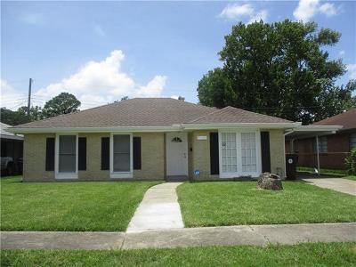 New Orleans Single Family Home For Sale: 1611 Tropic Drive