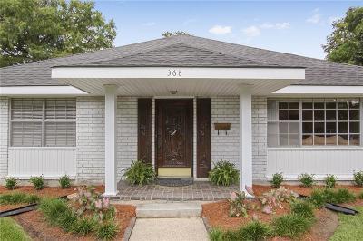 Gretna Single Family Home For Sale: 368 Fairfield Avenue