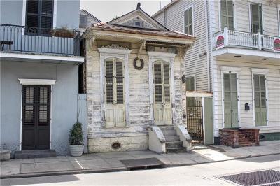 French Quarter Single Family Home For Sale: 740 Barracks Street