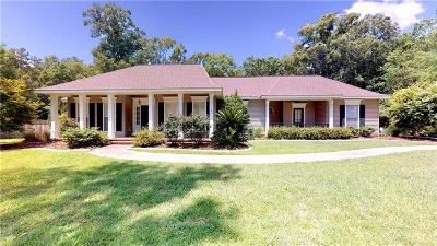 Madisonville Single Family Home For Sale: 126 Tchefuncte Parc Drive
