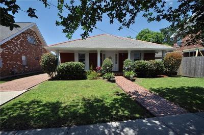 Metairie Single Family Home For Sale: 1623 Live Oak Street