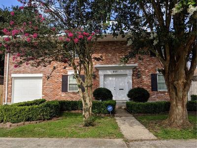 Gretna Single Family Home For Sale: 641 Diplomat Street