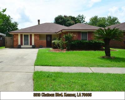 Kenner Single Family Home For Sale: 3310 Chateau Boulevard