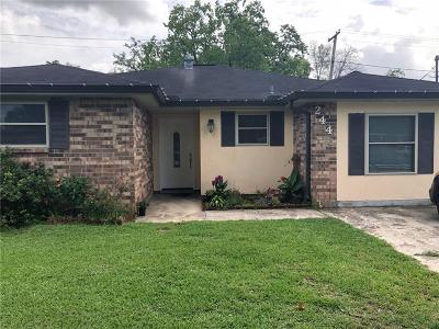 Destrehan, St. Rose Single Family Home For Sale: 244 Janet Drive