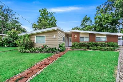 Metairie Single Family Home For Sale: 14 Caribou Court