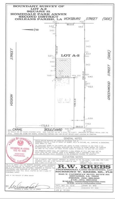 Lakeview Residential Lots & Land For Sale: 5353 Canal Boulevard