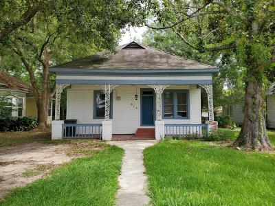 Lake Charles Single Family Home For Sale: 619 11th Street