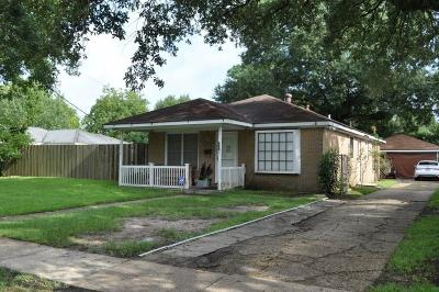 Lake Charles Single Family Home For Sale: 2023 10th Street