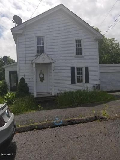 Pittsfield MA Single Family Home For Sale: $83,900