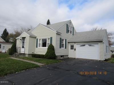 Pittsfield MA Single Family Home For Sale: $135,000