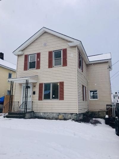 Pittsfield MA Single Family Home For Sale: $95,500