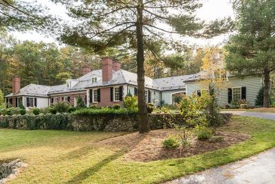 Wellesley Single Family Home For Sale: 150 Pond Road