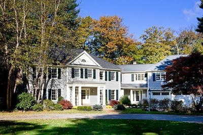 Wayland MA Single Family Home For Sale: $3,495,000