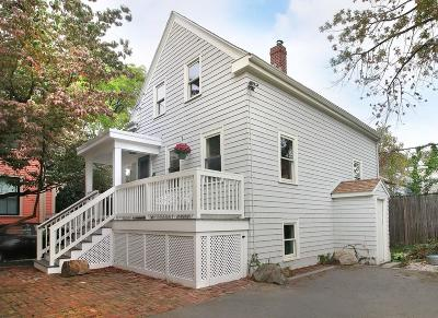 Cambridge MA Single Family Home For Sale: $759,000