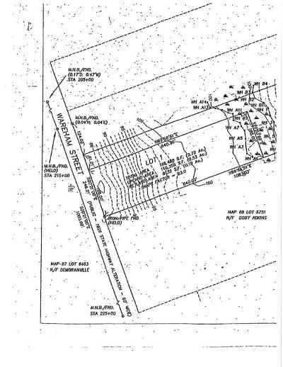 Middleboro Residential Lots & Land For Sale: 483 Lot 1 Wareham Street