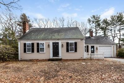 Hingham Single Family Home Under Agreement: 13 Forest Ln